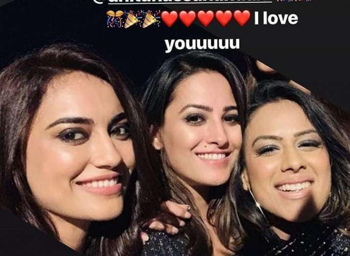 India Tv - Anita Hassanandani's birthday party with Surbhi Jyoti, Nia Sharma, Ekta Kapoor.