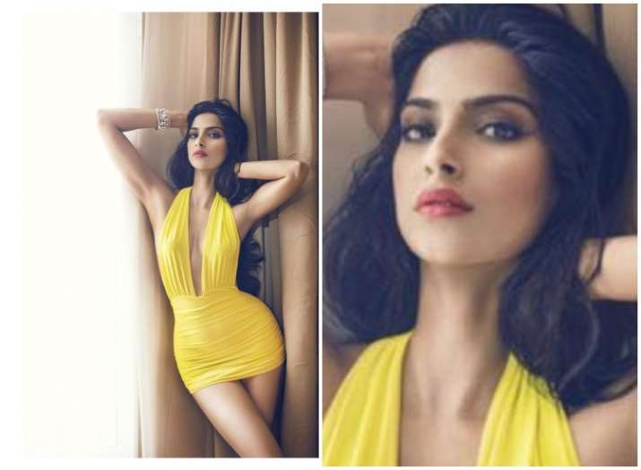 Sonam Kapoor S Throwback Picture In Yellow Vintage Style Swimsuit