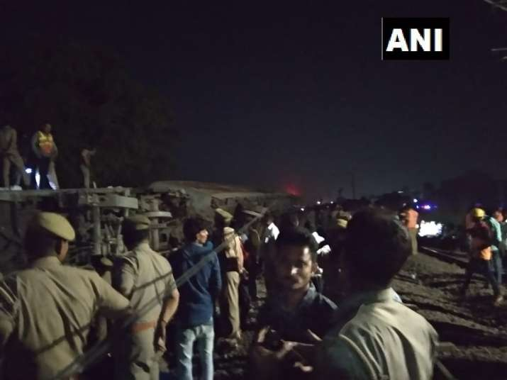 The train was going to New Delhi when the incident occurred