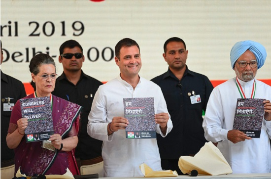 Congress President Rahul Gandhi, senior party leaders Sonia