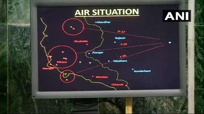 Radar images of an air battle between IAF pilot Abhinandan