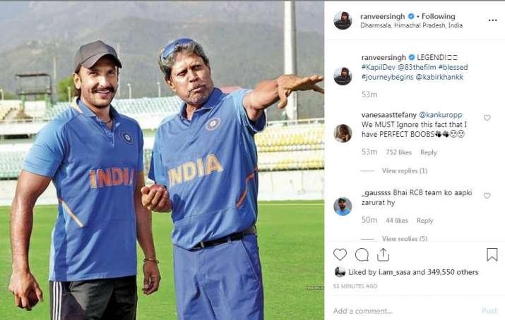 India Tv - Ranveer Singh's Instagram story