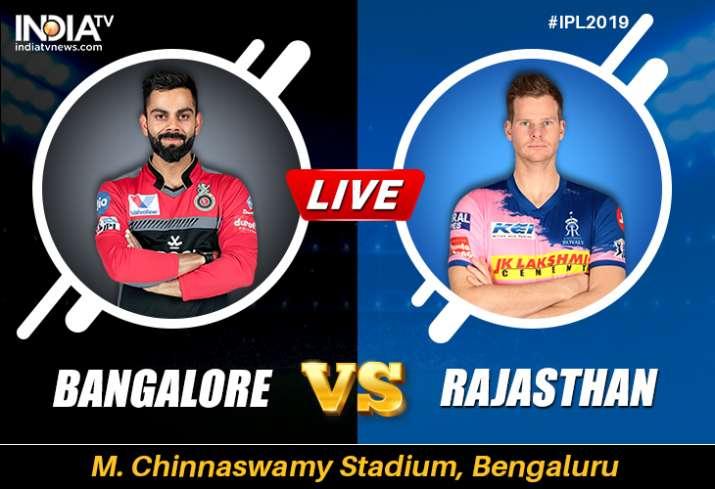 Live Streaming Cricket, RCB vs RR, IPL 2019: Live Match