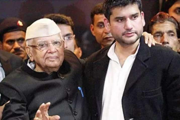 Rohit Shekhar with his father ND Tiwari