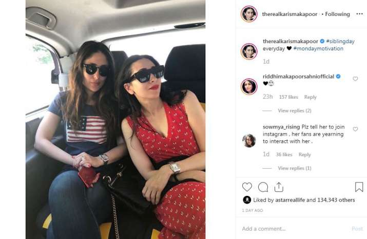 India Tv - Karisma Kapoor's Instagram