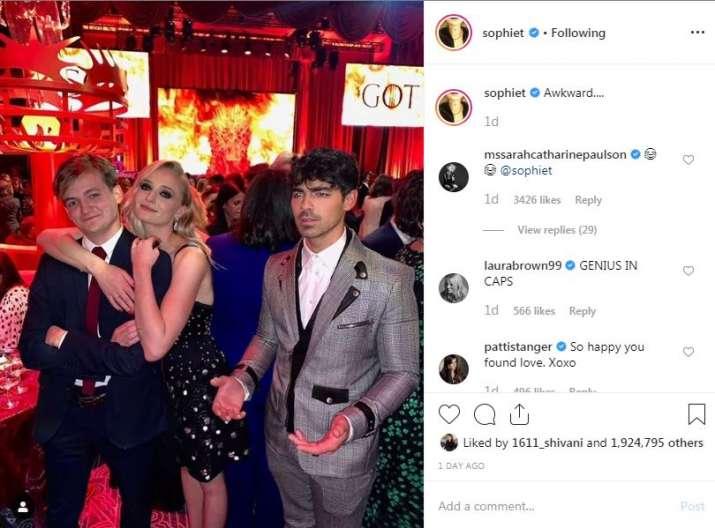 India Tv - Sophie Turner's Instagram post