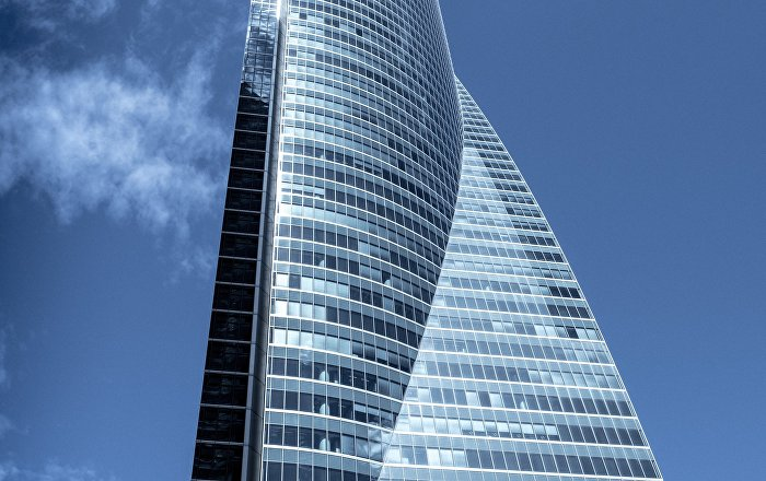 Torre Espacio is a 235 metres tall tower in Madrid, Spain