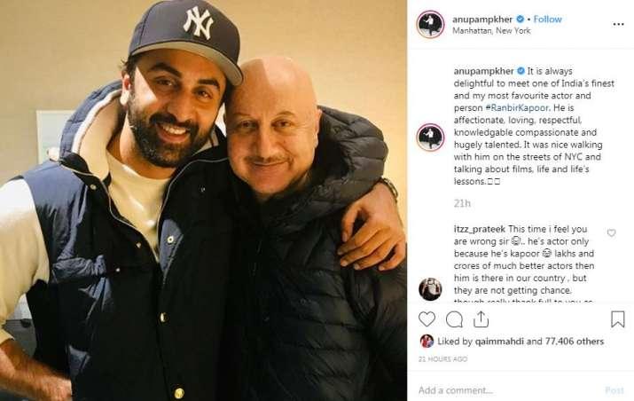 India Tv - Anupam Kher's Instagram post