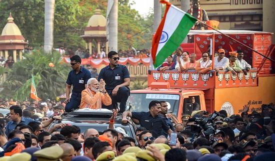 PM Modi's Varanasi roadshow