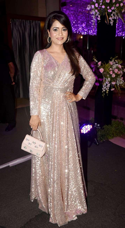 India Tv - India TV anchor Charul Malik atSsharad Malhotra-Ripci Bhatia's Sangeet ceremony