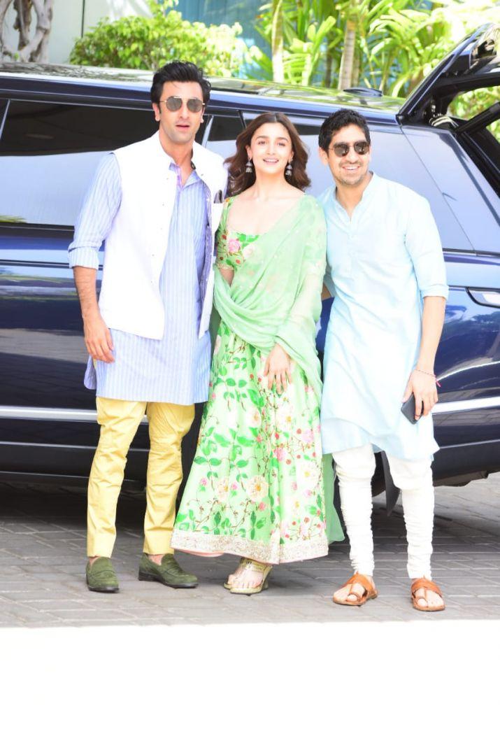 India Tv - Ranbir and Alia with Brahmastra director Ayan Mukerji.