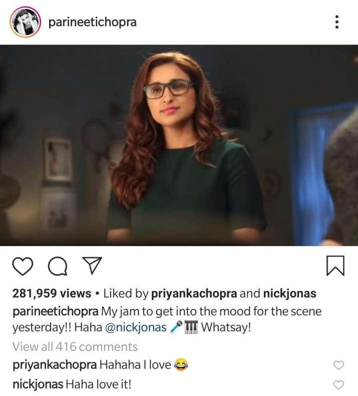 India Tv - Priyanka Chopra and Nick Jonas' reply to Parineeti Chopra's version of Sucker song