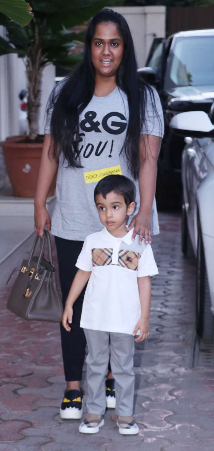 India Tv - Arpita Khan Sharma with son Ahil