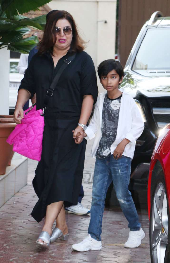 India Tv - Farah Khan with her son