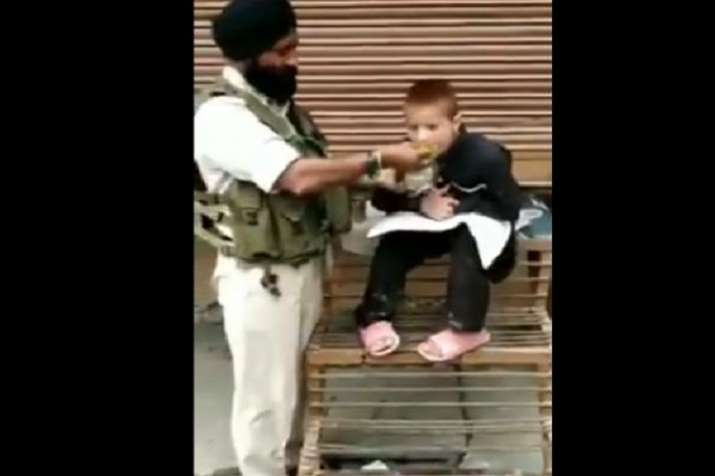 Singh walked towards the boy and offered his lunchbox to