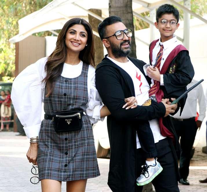 India Tv - Shilpa Shetty, Raj Kundra with son Viaan