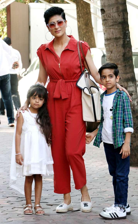 India Tv - Tahira Kashyap with kids