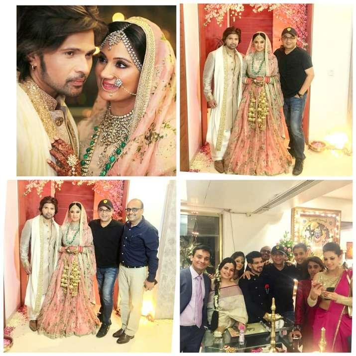 India Tv - Himesh Reshammiya wedding pics