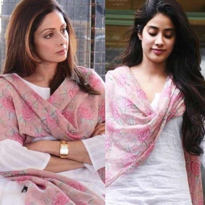 India Tv - Sridevi and Janhvi Kapoor