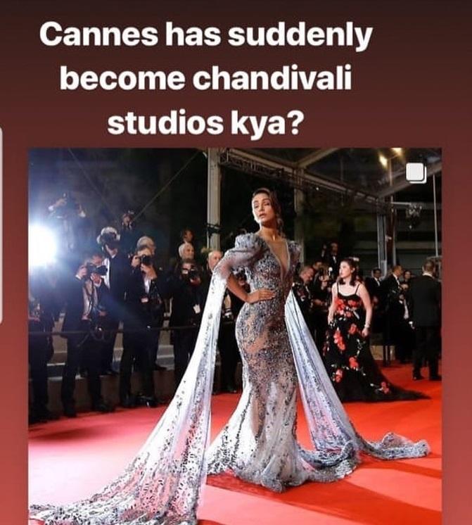 India Tv - Magazine editor mocks Hina Khan's Cannes look