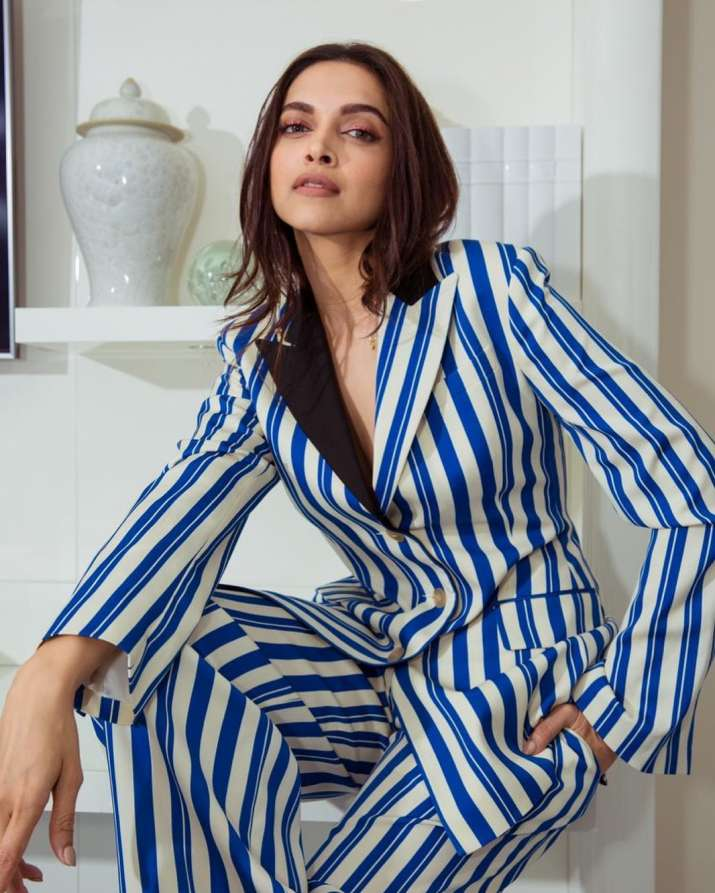 India Tv - Cannes 2019: Deepika Padukone's classy appearance in all stripes Day 2 look