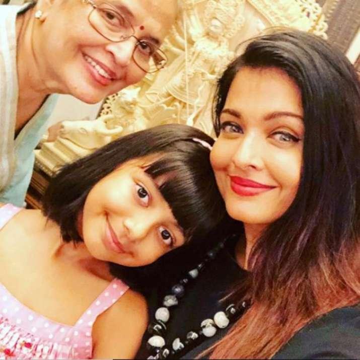 India Tv - Aishwarya Rai Bachchan with mother and daughter