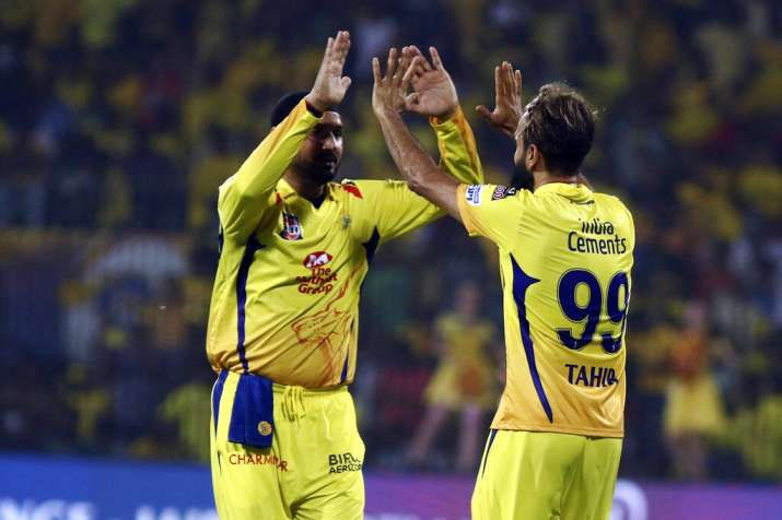 India Tv - Harbhajan Singh has played a crucial supporting role for Imran Tahir this year.