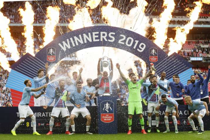 Manchester City become first men's team to sweep English domestic quadruple with FA Cup win
