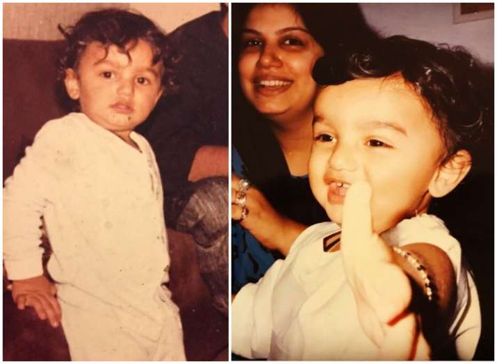 India Tv - 10 adorable childhood photos of Bollywood celebrities