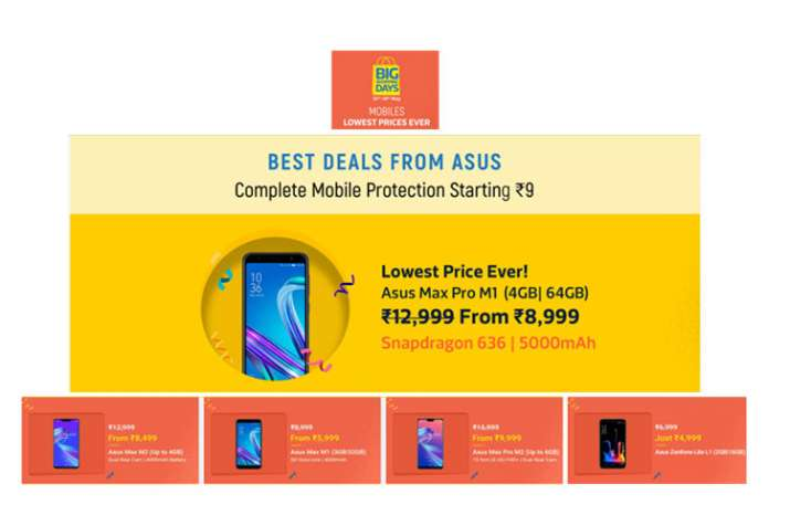 Flipkart Big shopping days sale: List of ASUS phones on offers