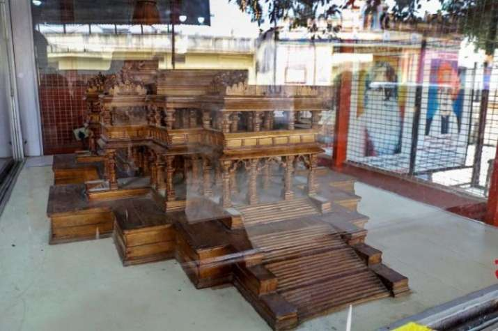 India Tv - A model of the Ram Temple depicting what it would look like