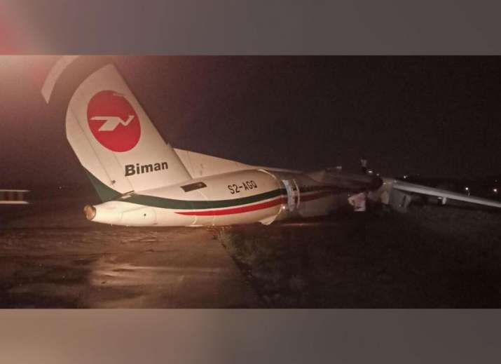 Bangladesh plane crashes at Yangon International Airport