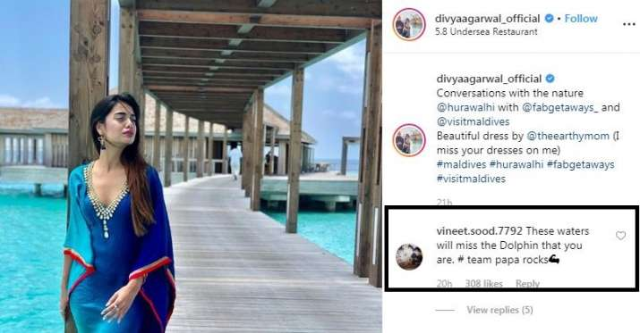 India Tv - Varun Sood's father has the perfect reactions to his girlfriend Divya Agarwal's Maldives pictures