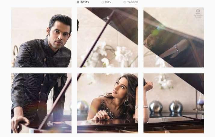 India Tv - Erica Fernandes cannot stop staring at Kasauti Zindagii Kay 2 co-star Parth Samthaan
