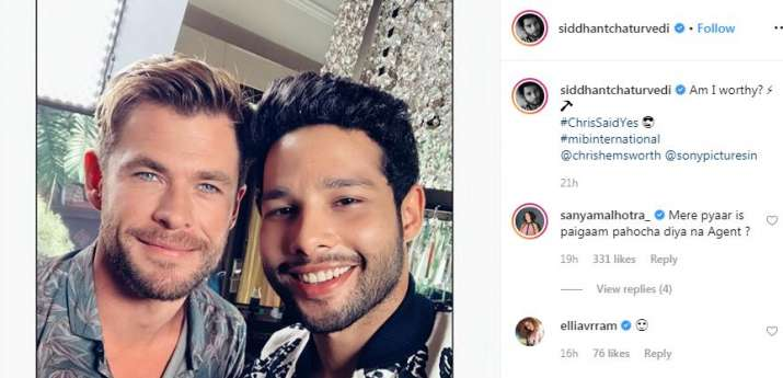 India Tv - Siddhant Chaturvedi and Chris Hemsworth