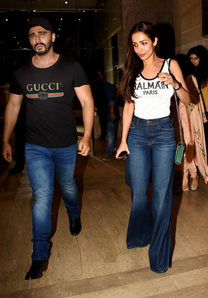 India Tv - Arjun Kapoor and Malaika Arora at India's Most Wanted Screening