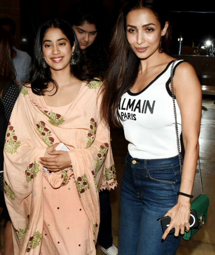 India Tv - Janhvi Kapoor and Malaika Arora at India's Most Wanted Screening