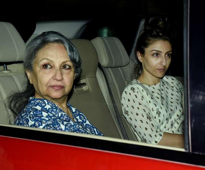 India Tv - Sharmila Tagore and Soha Ali Khan came together at Saif's place.