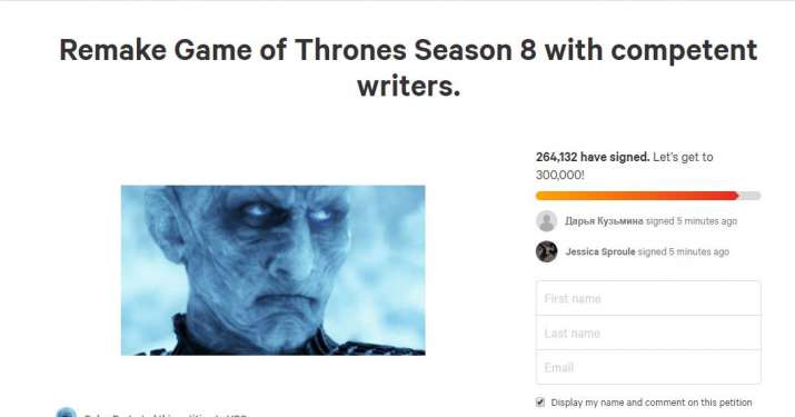 India Tv - Remake Game of Thrones season 8 petition on Change.org
