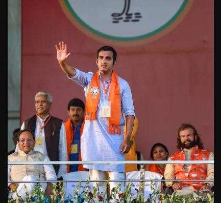 Cricketer-turned politician Gautam Gambhir.