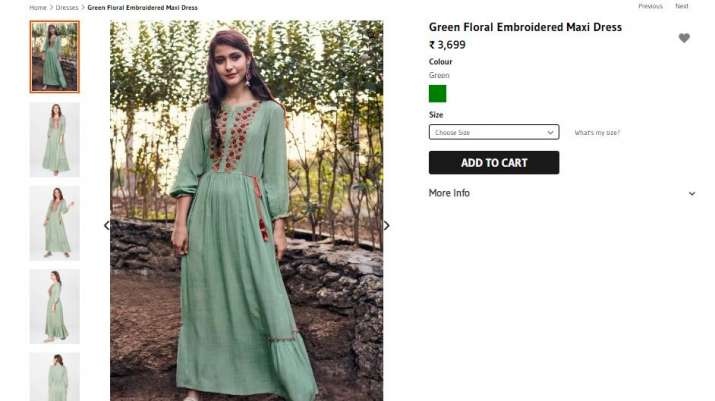 India Tv - Sara Ali Khan's teal dress