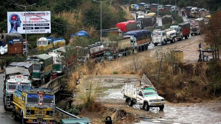 Jammu-Srinagar highway closed due to landslide in Ramban