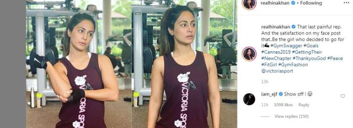 India Tv - Erica Fernandes calls Hina Khan 'SHOW-OFF', as she preps up for Cannes Film Festival