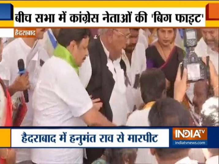 Congress leaders clash over chair in Telangana
