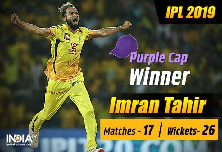 IPL 2019: Imran Tahir pips countryman Kagiso Rabada to take 'Purple Cap'