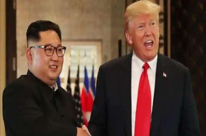 Kim Jong-Un with US President Donald Trump