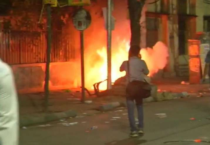 Latest visuals from the site of violence in Kolkata