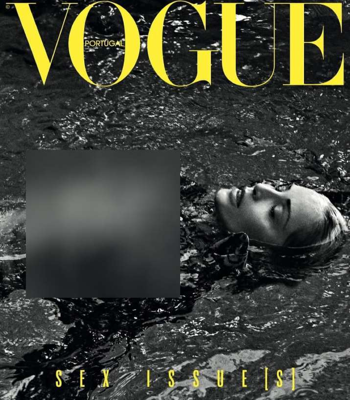 India Tv - At 61, Sharon Stone poses topless for Vogue