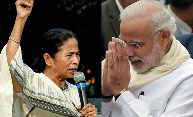 West Bengal Chief Minister Mamata Banerjee and Prime
