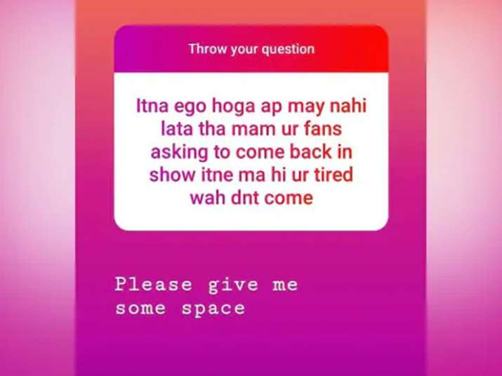 India Tv - Dayaben aka Disha Vakani's angry reply to fan who asked her to return in Taarak Mehta Ka Ooltah Chashmah